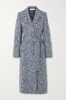 Victoria Victoria Beckham Victoria, Victoria Beckham Belted Wool-blend Boucle-tweed Coat