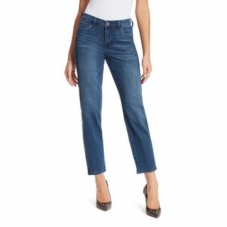 Skinnygirl Women's Misses Celeste High Rise Straight Ankle Jean