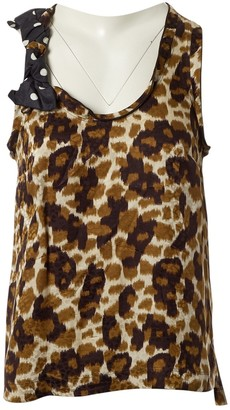 Louis Vuitton Brown Silk Top for Women