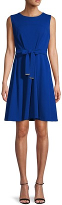 Tommy Hilfiger Tie-Waist Fit-&-Flare Dress