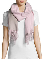 Lord & Taylor Reversible Fringed Wrap or Scarf