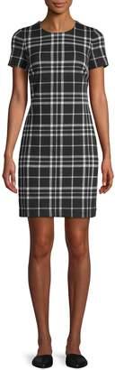 Calvin Klein Plaid-Print Knee-Length Dress