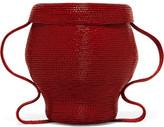 Rosie Assoulin Jug Mini Woven Clutch - Crimson