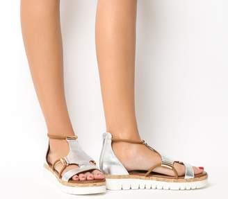 Inuovo Flat Sandals Silver