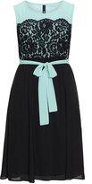 Manon Baptiste Plus Size Two tone lace dress