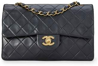 Chanel Black Quilted Lambskin Classic Double Flap Small