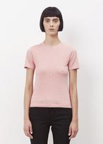 Acne Studios pink melange dorla pc crewneck t-shirt