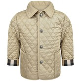 Burberry BurberryBaby Boys Beige Quilted Jacket