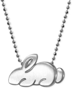 Alex Woo Little Rabbit Zodiac Pendant Necklace in Sterling Silver