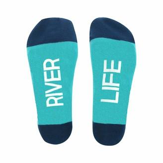 Pavilion Gift Company River Life Oar Patterned-Small/Medium Unisex Crew Cut Socks