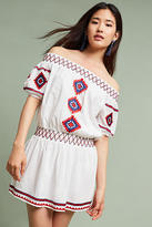 Tularosa Sanremo Off-The-Shoulder Embroidered Dress