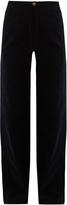 Lemaire High-rise wide-leg cotton-corduroy trousers