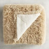 Pier 1 Imports Tan Shaggy Sherpa Throw