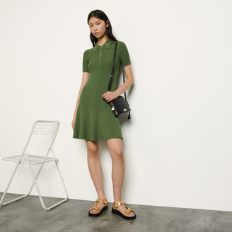 Sandro Polo-style knitted dress
