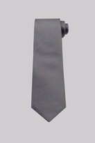 Moss Bros Taupe and Sky Blue Natte Silk Tie