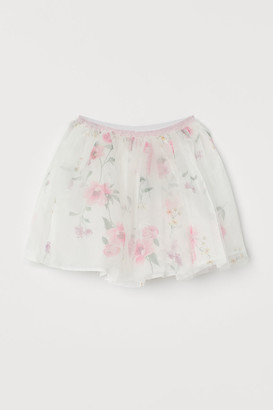H&M Tulle and Organza Skirt - White
