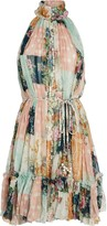 Zimmermann Wavelength High Collar Mini Dress