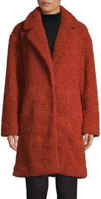 HUGO Textured Faux Fur Teddy Coat