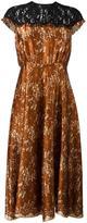 Maurizio Pecoraro floral lace midi dress
