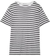Alexander Wang Striped Stretch-jersey T-shirt - Midnight blue