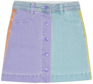 Stella McCartney Kids Stretch-cotton denim skirt