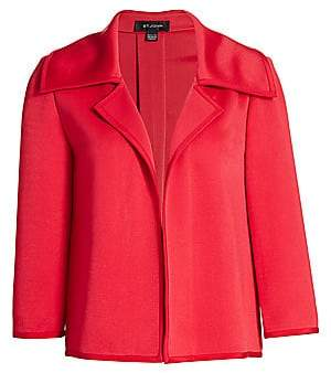 St. John Women's Liquid Milano Knit Notch Jacket - Size 0