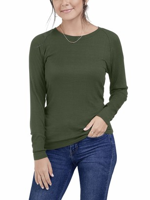 Fruit of the Loom Seek No Further by Women's Long Sleeve Ribbed T-Shirt