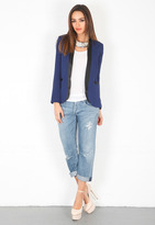 Haute Hippie Dropped Lapel Blazer in Swan/Buff