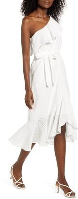 MinkPink Celestial One Shoulder Dress