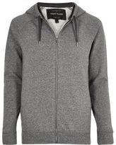River Island MensGrey marl hoodie