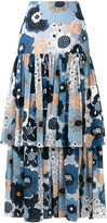 Chloé floral peasant skirt - women - Cotton/Silk - 34