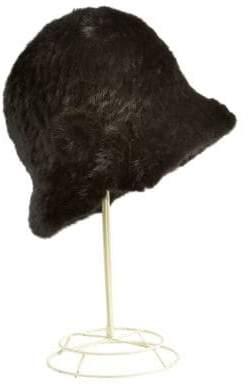 Surell Mink Fur Cloche Hat