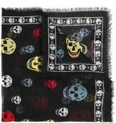 Alexander McQueen multicolour skull scarf