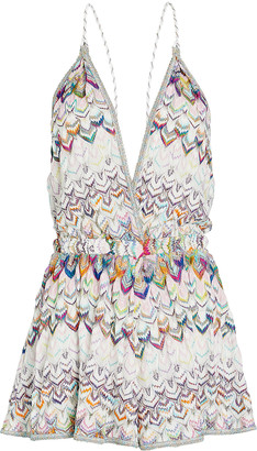 Missoni Mare Rainbow Knit Chevron Romper