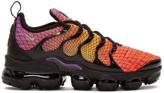 Nike Black and Orange Air Vapormax Plus Sneakers
