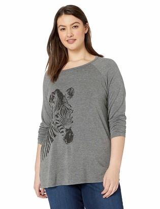 Karen Kane Women's Plus Size Zebra Print TOP