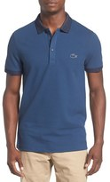 Lacoste Men's Textured Logo Contrast Trim Pique Polo