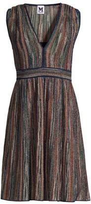 M Missoni Sleeveless Lurex Fit-&-Flare Dress