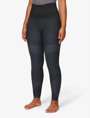 Spanx Look At Me Moto high-rise stretch-woven leggings