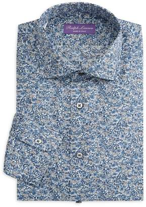 Ralph Lauren Purple Label Aston NK Slim-Fit Floral Sportshirt