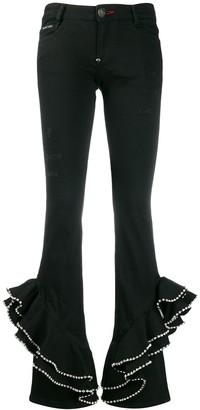 Philipp Plein Ruffled Trousers