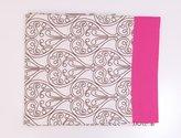 Bacati Damask Pink/Chocolate Twin Sheet Set