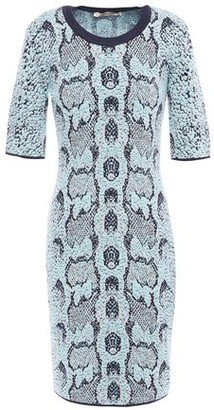 Roberto Cavalli Metallic Wool-blend Jacquard Mini Dress