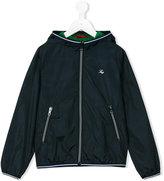 Fay Kids - striped trim hooded jacket - kids - Polyamide - 4 yrs
