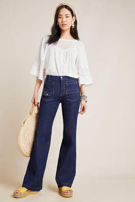 Anthropologie 7 For All Mankind Georgia High-Rise Flare Jeans
