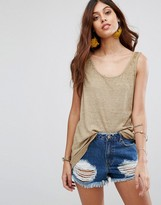 Free People Break Down Solid Tank Top