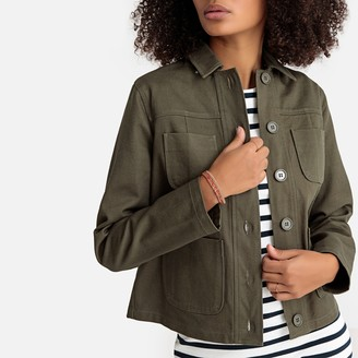 La Redoute Collections Short Cotton Utility Jacket with Pockets