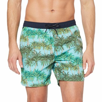 Scotch & Soda Men's Classic Swimshort with Summer All-Over Print Short
