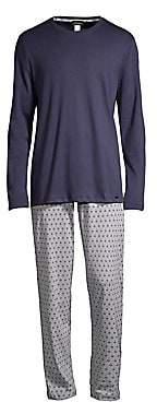 Hanro Men's Night & Day 2-Piece Long-Sleeve Pajama Set