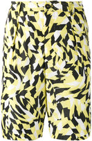Marni graphic print shorts - men - Cotton/Polyamide - 46